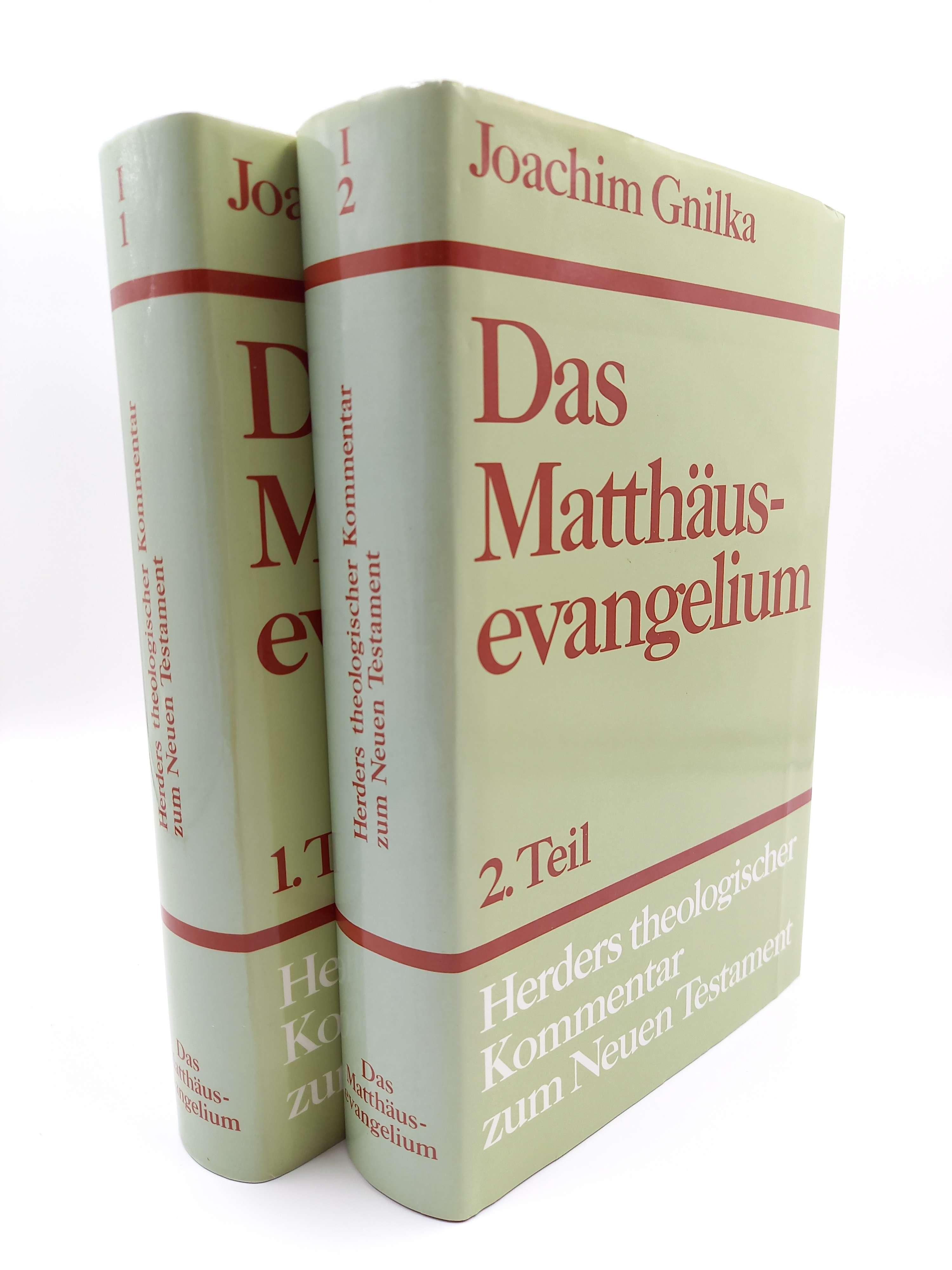 Gnilka, Joachim Das Matthäusevangelium; 1. und 2. Teil (2 Bände komplett)